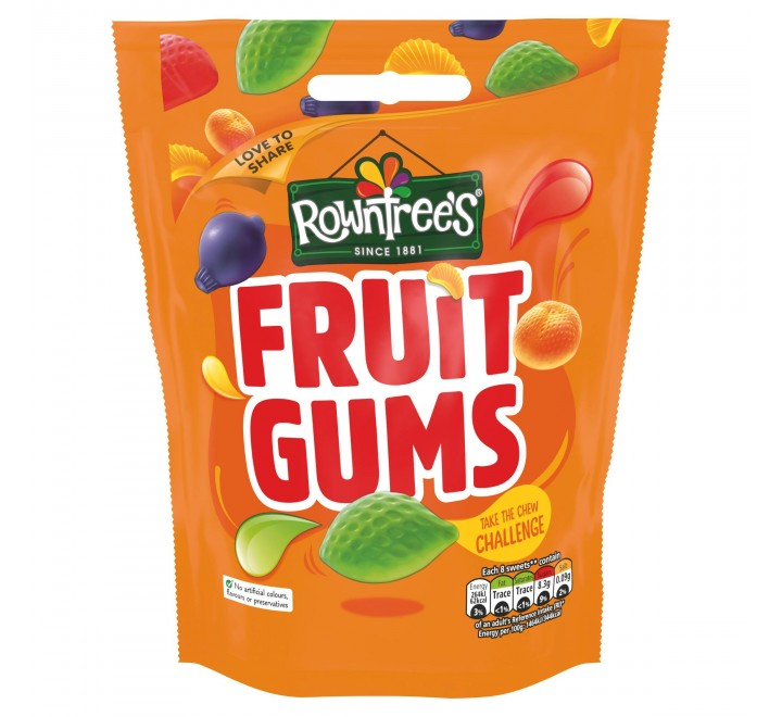 Rowntree's Fruit Gums Pouch (150g)