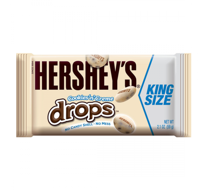 Hershey's Cookies 'N' Creme Drops king Size , (59g)