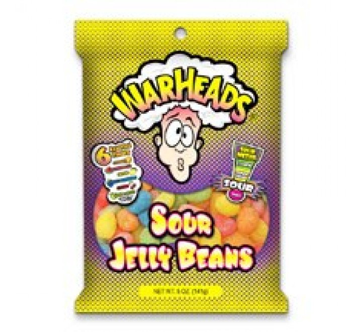 WarHeads Sour Jelly Beans Bag (141g)