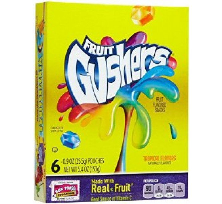 Betty Crocker Fruit Gushers Tropical Flavors (153g)