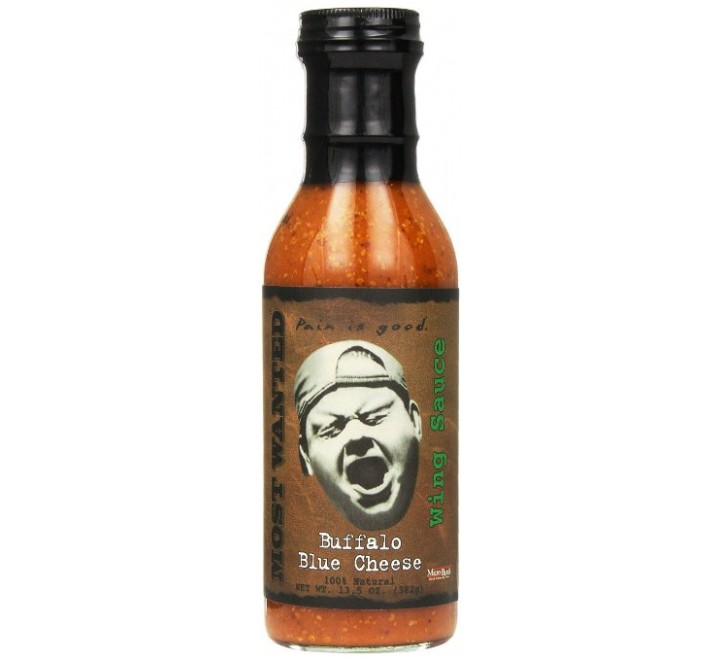 """Most Wanted """"Pain is Good"""" Buffalo Blue Cheese Wing Sauce (382g)"""