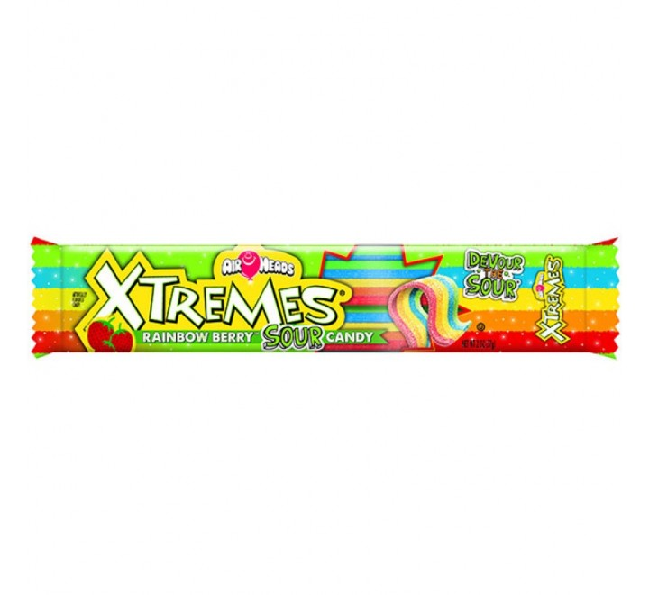 Air Heads Xtremes, Rainbow Sour Berry Belt (57g)