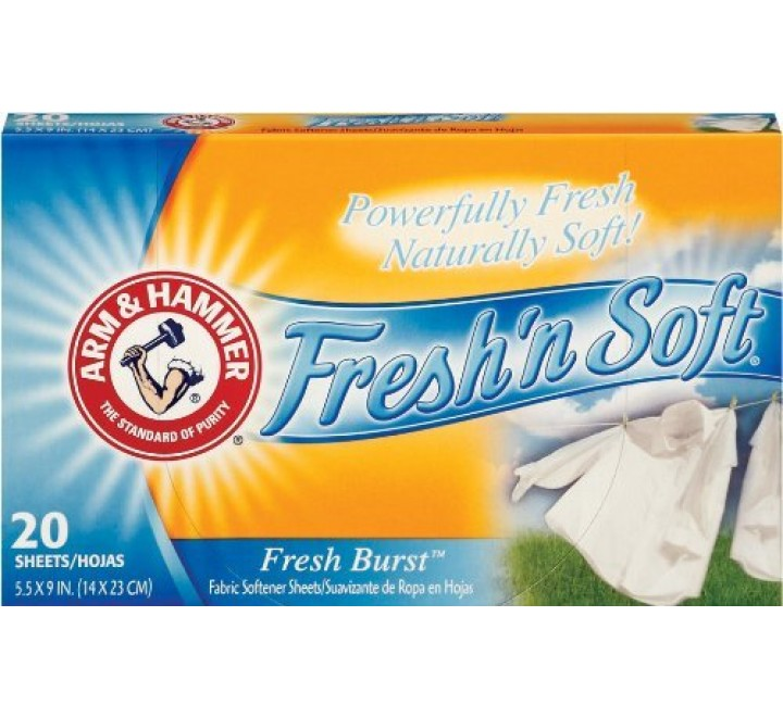 Arm & Hammer Fresh N Soft Fabric Softener Sheets