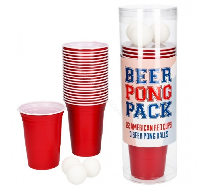 American Beer Pong Pack 22 Cups + 3 Balls