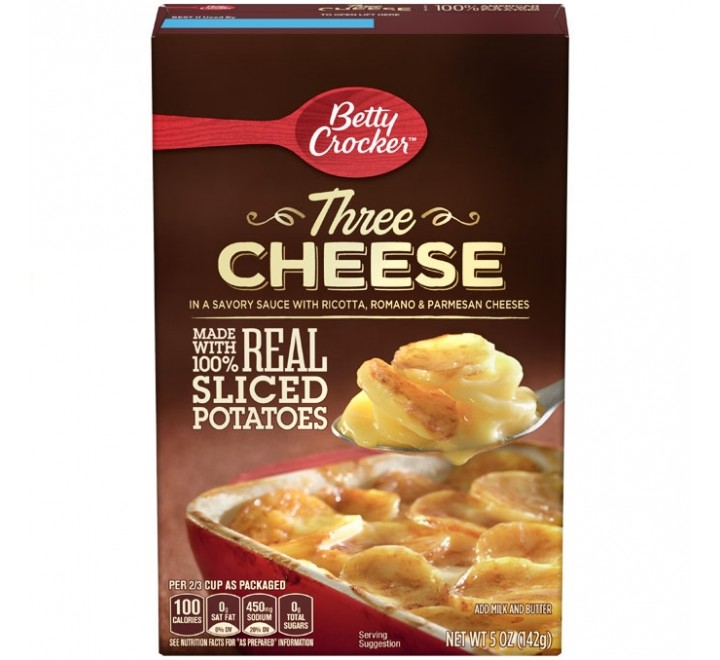 Three Cheese with Sliced Potatoes
