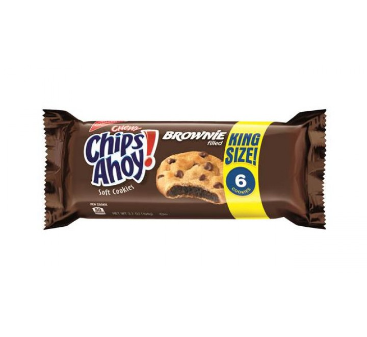 Chips Ahoy! Brownie Filled Chewy Cookies, King Size (6-pack) (104g)