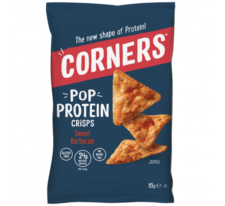 Corners Pop Protein Crisps, Sweet Barbecue (85g)