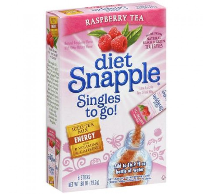 Diet Snapple Singles To Go Raspberry Tea (20g)