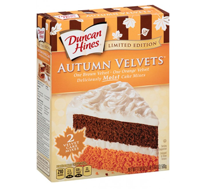 Duncan Hines Autumn Velvets Cake Mix Limited Edition USfoodz (500g)