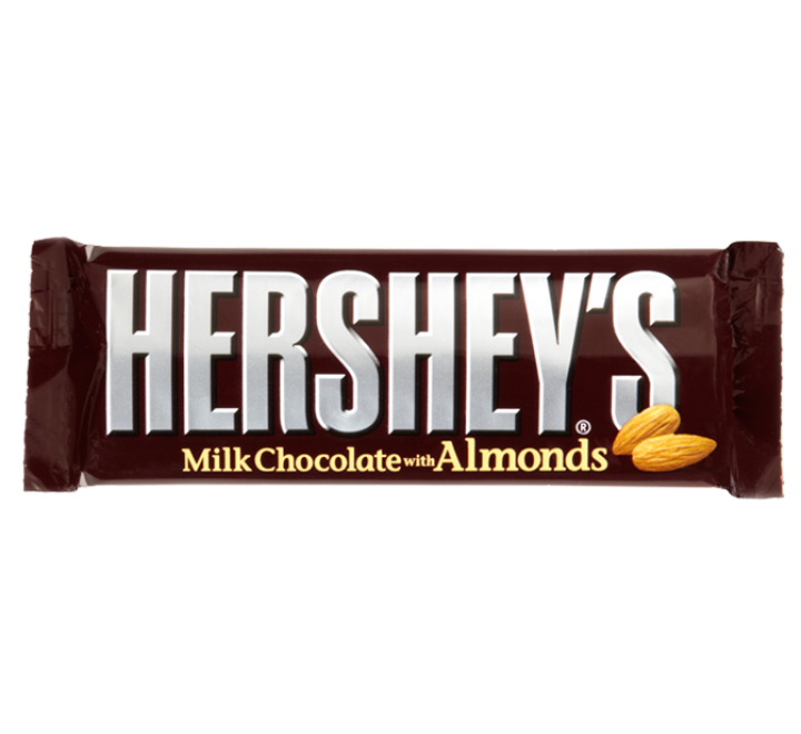 Hershey's Milk Chocolate with Almond Bar (45g)
