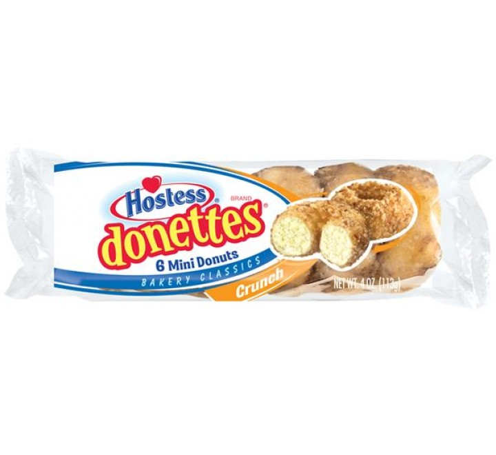 Hostess Donettes, Crunch 6 Mini Donuts (113g)