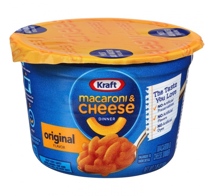 Kraft Macaroni & Cheese Dinner Cup, Original (58g) USfoodz