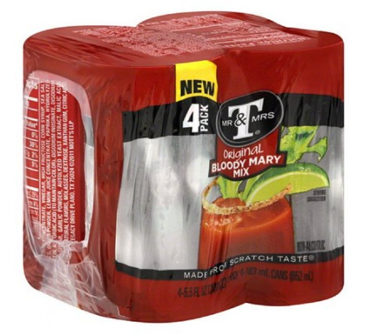 Mr & Mrs T Original Bloody Mary Mix 4-Pack (652ml)
