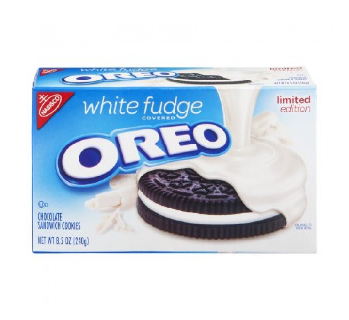 Oreo White Fudge Covered Cookies Limited Edition USfoodz (240g)