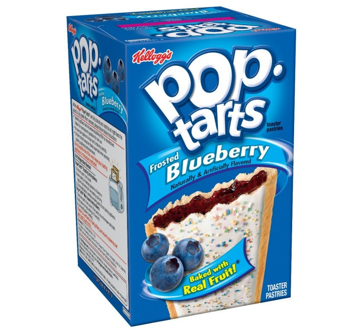 Kellogg's PopTarts Frosted Blueberry (416g)