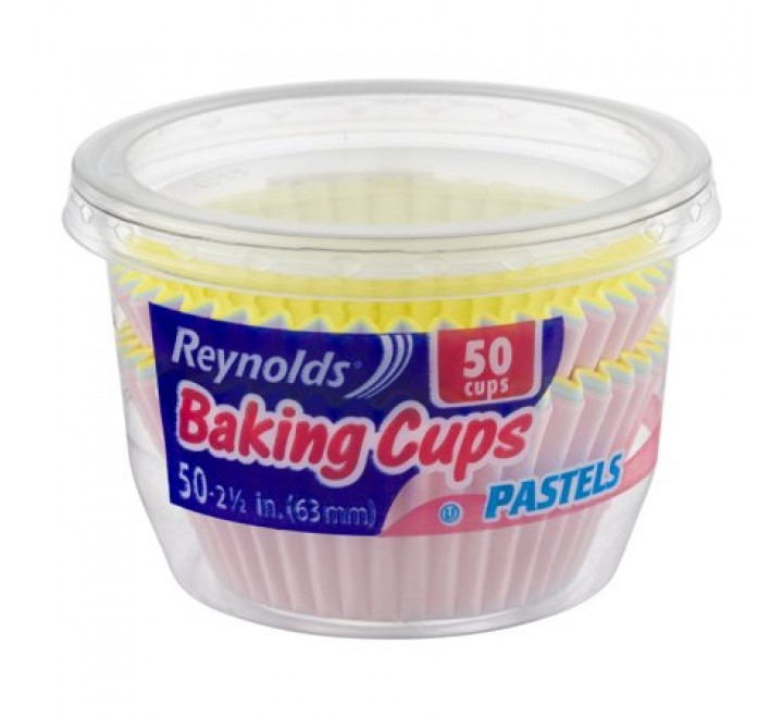 Reynolds Pastel & White Baking Cups 50 cups