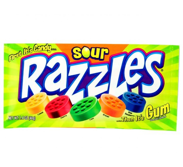 Razzles Candy Coated Berry Mix (45g)