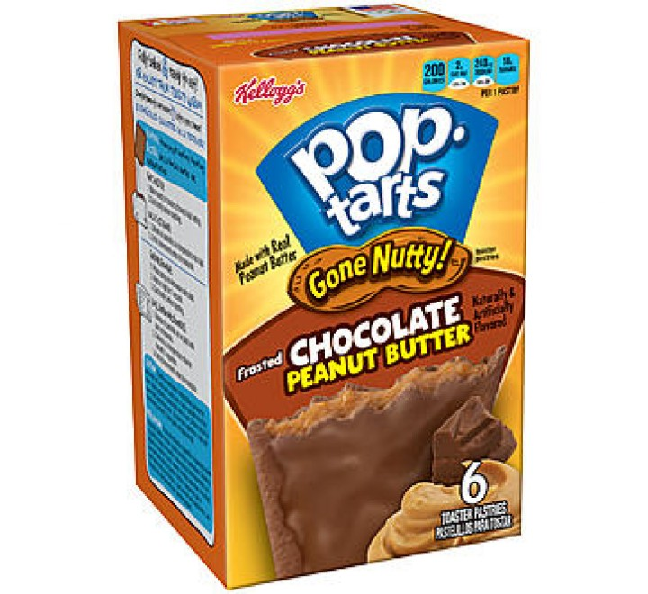 Kellogg's PopTarts Gone Nutty! Frosted Chocolate Peanut Butter (300g)