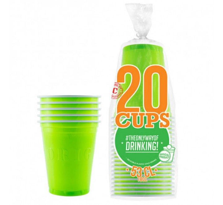The Original Cup Green - 20 Cups (532ml)