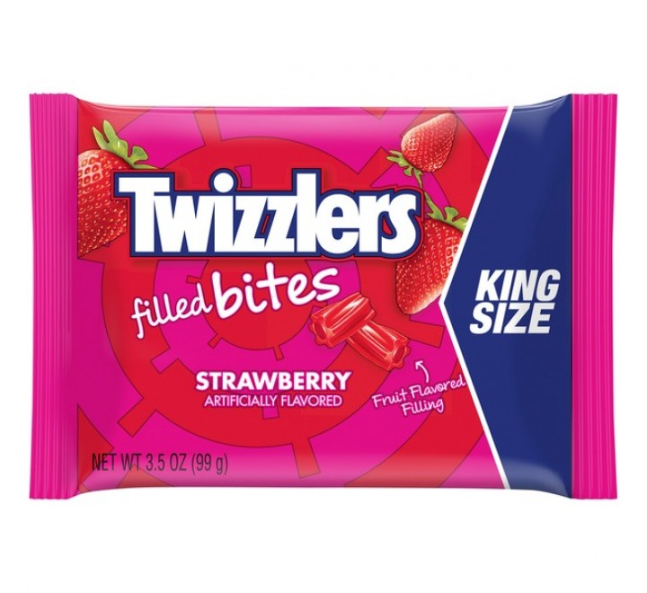 Twizzlers Strawberry Filled Bites, King Size (99g)