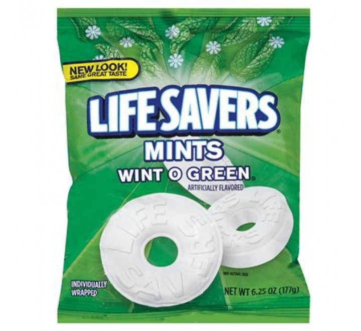 LifeSavers Mints Wint O Green (bag) (177g)