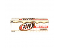 A&W Zero Sugar, Root Beer (12x355ml) Fridge Pack
