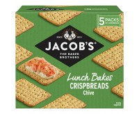 Jacob's Crispbreads Chive Crackers (190g)