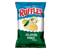 Ruffles Jalapeño Ranch Flavored Potato Chips (184g)
