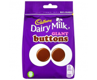 Cadbury Dairy Milk Giant Buttons, Bag (105g)