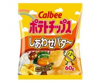 Calbee Shiawase Potato Chips, Honey & Butter (60g)