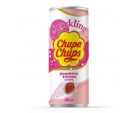 Chupa Chups Sparkling, Strawberry & Cream (250ml)