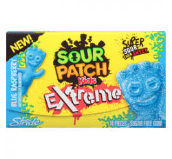 Sour Patch Kids extreme blue raspberry Gum (30g)