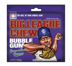 Big League Chew Bubble Gum, Ground Ball Grape (60g)