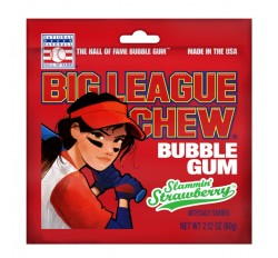 Big League Chew Bubble Gum, Slammin' Strawberry (60g)