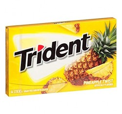 Trident Pineapple Twist, Sugar Free Gum (14 pieces)