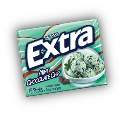 Wrigley's Extra Mint Chocolate Chip, Sugarfree Gum (15 sticks)