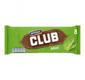 Mcvitie's Club Mint Chocolate Biscuit (176g) (BEST-BY DATE: 09-01-21)