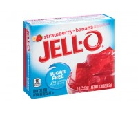 Jell-O Sugar Free, Strawberry-Banana Gelatin (8g) (BEST BY 10-05-2020)